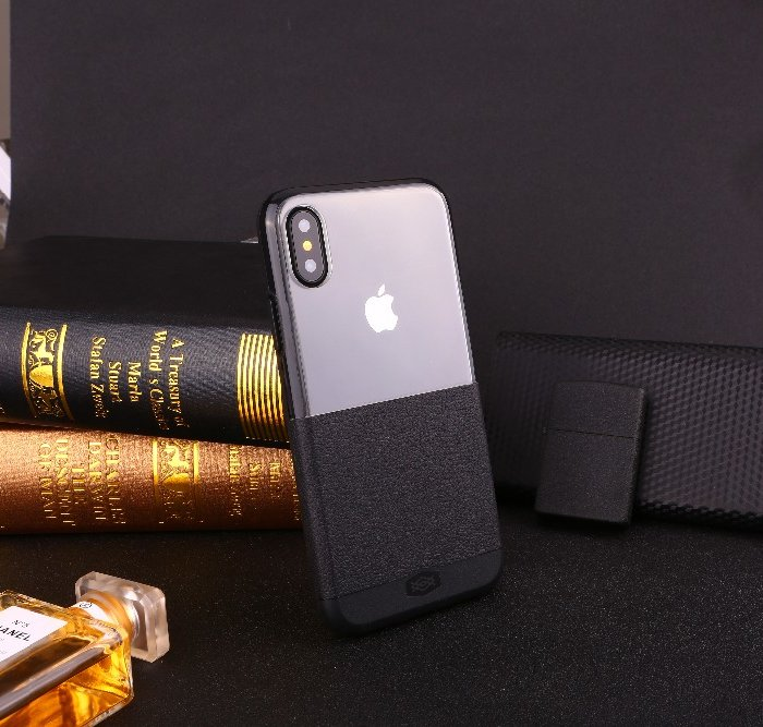Чехол накладка X-Doria Dash Case для iPhone X Серый нейлон - Изображение 34949