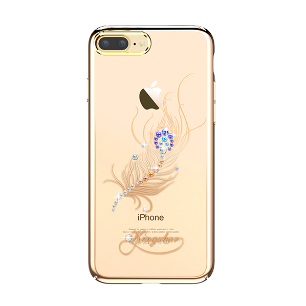 Чехол накладка Swarovski Kingxbar Classic Gold Plumage для iPhone 7 Plus Золото - Изображение 8053