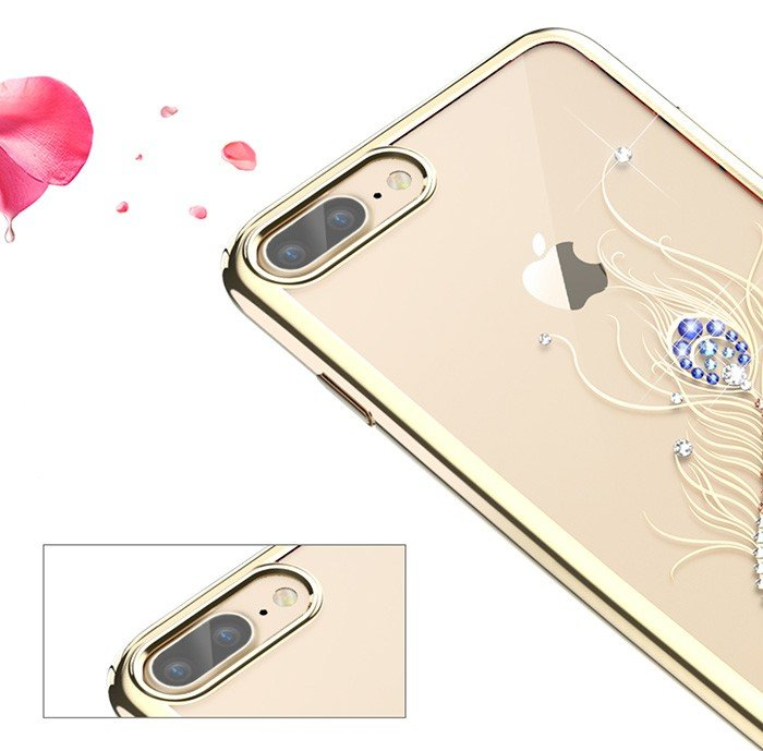 Чехол накладка Swarovski Kingxbar Classic Gold Plumage для iPhone 7 Plus Золото - Изображение 8055