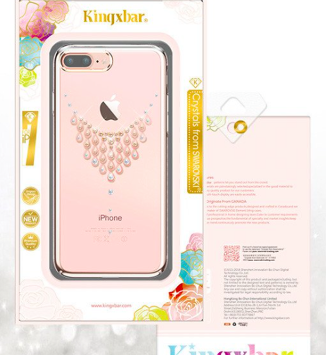 Чехол накладка Swarovski Kingxbar Starry Sky Rose Dew для iPhone 7 Plus Розовый - Изображение 8141
