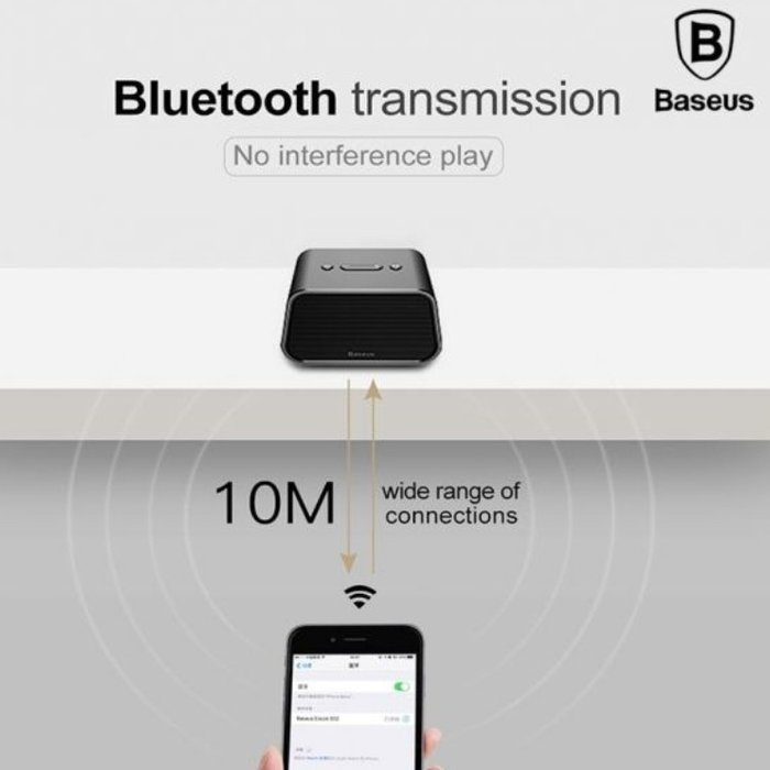 Портативная Bluetooth колонка с флешкой Baseus Encok Multi-Functional E02 Красная - Изображение 63003