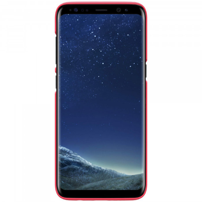 Чехол накладка Nillkin Frosted Shield для Samsung Galaxy S8 Красный - Изображение 104371
