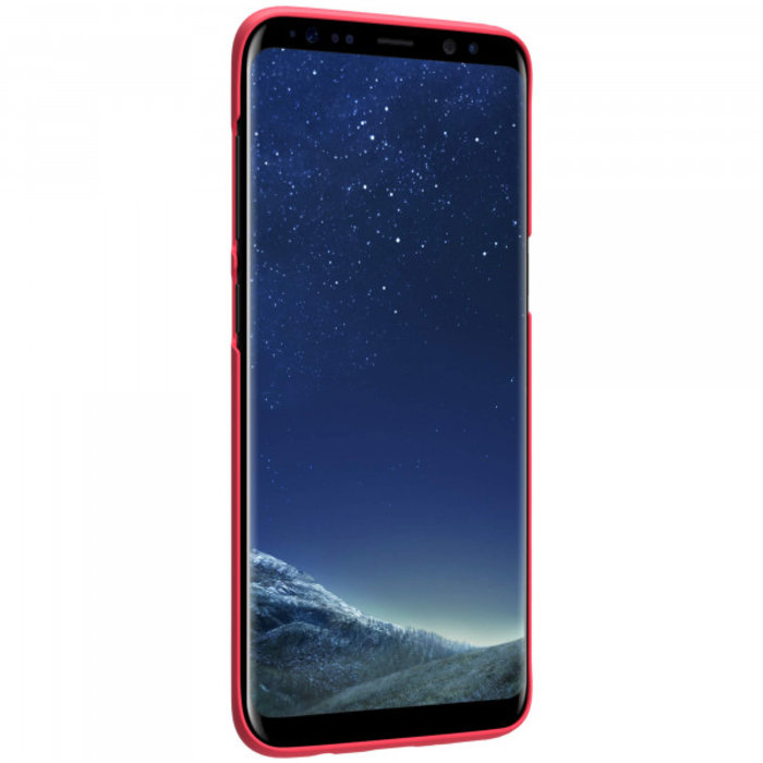 Чехол накладка Nillkin Frosted Shield для Samsung Galaxy S8 Красный - Изображение 104380