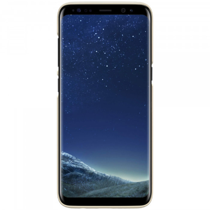 Чехол накладка Nillkin Frosted Shield для Samsung Galaxy S8 Plus Золотой - Изображение 104287