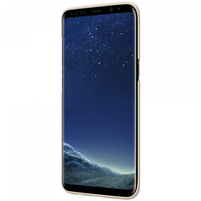 Чехол накладка Nillkin Frosted Shield для Samsung Galaxy S8 Plus Золотой - Изображение 104293