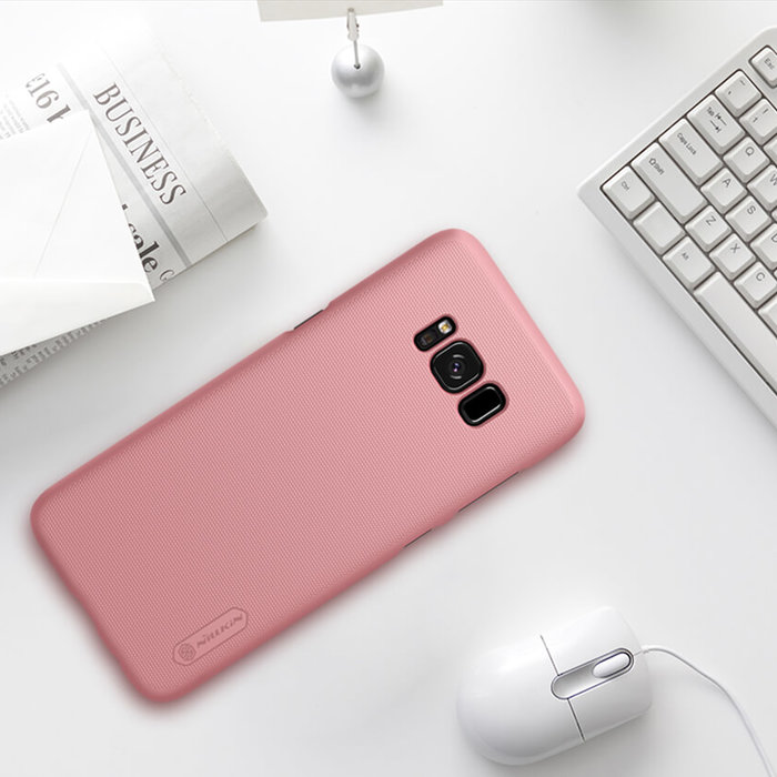 Чехол накладка Nillkin Frosted Shield для Samsung Galaxy S8 Plus Розовый - Изображение 104365