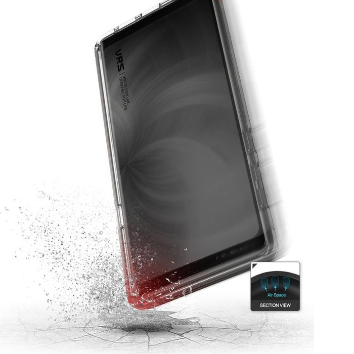 Чехол накладка VRS Design Crystal Bumper для Samsung Galaxy Note 9 Чёрный - Изображение 110105