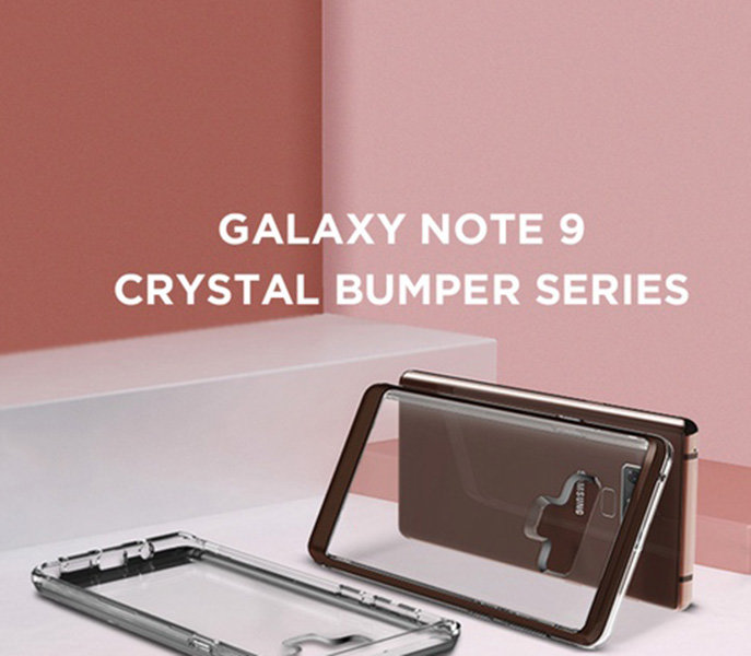 Чехол накладка VRS Design Crystal Bumper для Samsung Galaxy Note 9 Чёрный - Изображение 110108