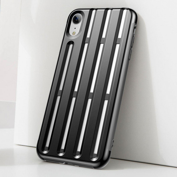 Чехол накладка Baseus Cycling Helmet Case для iPhone Xr Черный - Изображение 111394