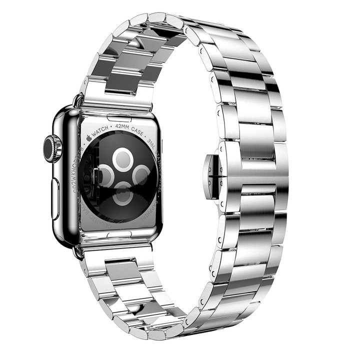 Браслет стальной HOCO Slim-Fit Steel 3 для Apple Watch 2 / 1 (42мм) Серебро - Изображение 11291