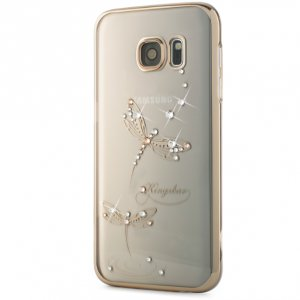 Чехол Swarovski Classic Gold для Galaxy S7 Edge Dragonfly