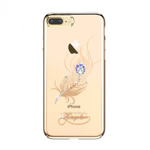 Чехол накладка Swarovski Kingxbar Classic Gold Plumage для iPhone 7 Plus Золото