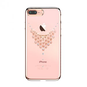 Чехол накладка Swarovski Kingxbar Starry Sky Rose Dew для iPhone 7 Plus Розовый