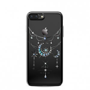 Чехол накладка Swarovski Kingxbar Twinkling Moon Black для iPhone 7 Plus Черный