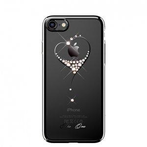 Чехол накладка Swarovski Kingxbar Starry Sky Black Heart для iPhone 8 Черный