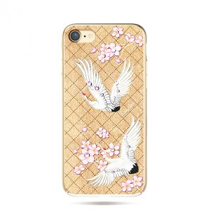Чехол накладка Swarovski Kingxbar Fairy Land Crane для iPhone 8 Золото