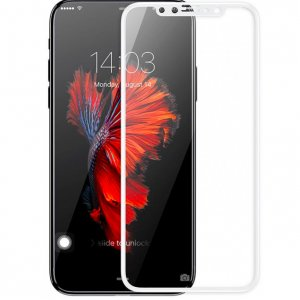 Защитное стекло Baseus Silk-screen 3D Arc Tempered Glass 0.3mm для iPhone X Белое