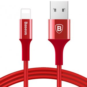 Кабель Baseus Shining with Jet metal 1m USB to Lightning Красный
