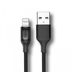 Кабель Rock USB - Lightning для iPhone 1м Черный