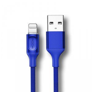 Кабель Rock USB - Lightning для iPhone 1м Синий