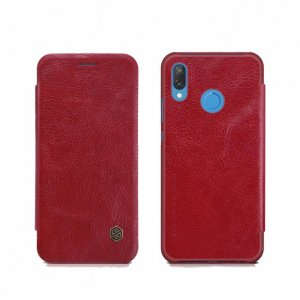 Чехол книжка Nillkin Qin Leather Case для Huawei P20 Lite Красный