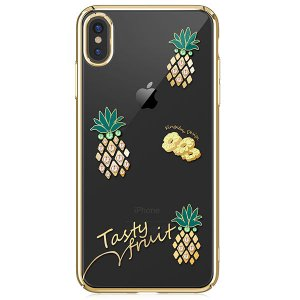 Чехол накладка Swarovski Kingxbar Tropical Pineapple для iPhone Xs Max Золото