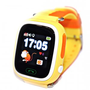 WONLEX Smart Baby Watch Q80 - Желтые