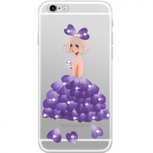 Чехол Joyroom Flower Diamond для iPhone 6 Plus/6S Plus Фиолетовый